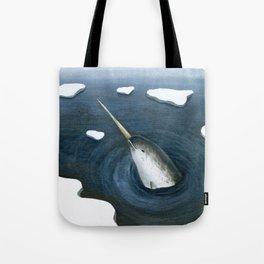 Bobbing Narwhal Tote Bag
