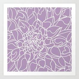 Chrysanthemum Lavender Collection Art Print
