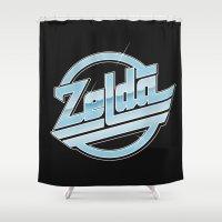zelda Shower Curtains featuring Zelda // Magna by Daniel Mackey