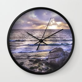 Porth Nanven, Cot Valley 3, Cornwall, England, United Kingdom Wall Clock