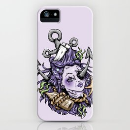 Severed Anchor Head (Purple) iPhone Case