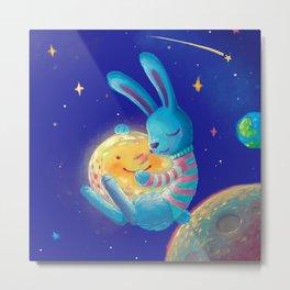 Hug a moon Metal Print