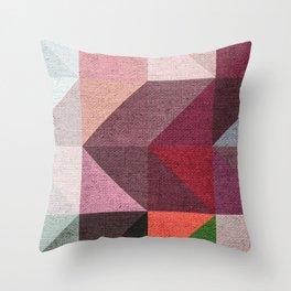 Warm Textured Chevron Geometrical Pattern Throw Pillow