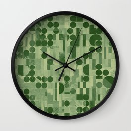 Pivot Fields (Green) Wall Clock