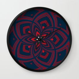 Spiral Rose Pattern C 1/4 Wall Clock