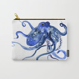 Octopus Design Blue Navy Blue Beach Carry-All Pouch