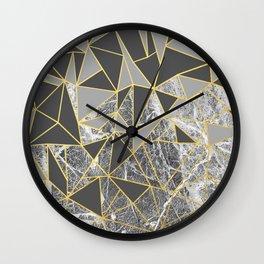 Ab Marb Grey Returned Wall Clock