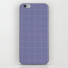 Midnight Blue Gingham iPhone Skin
