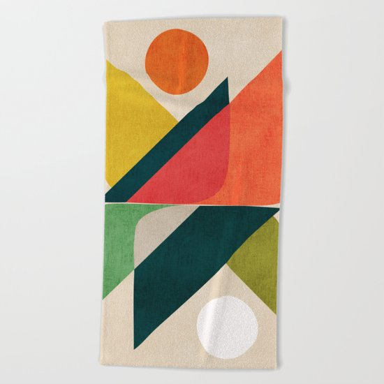 Reflection (of time and space) Beach Towel