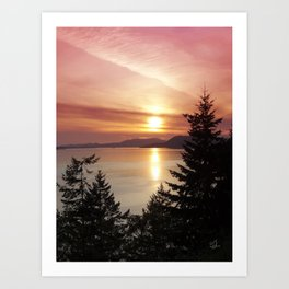 Sunset Colors Art Print