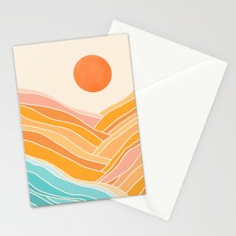 Adventure On The Horizon / Abstract Landscape Stationery Cards