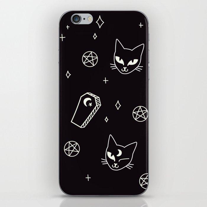 Cute Goth Kitties & Coffins iPhone Skin