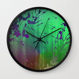Under The Waterfall Wall Clock