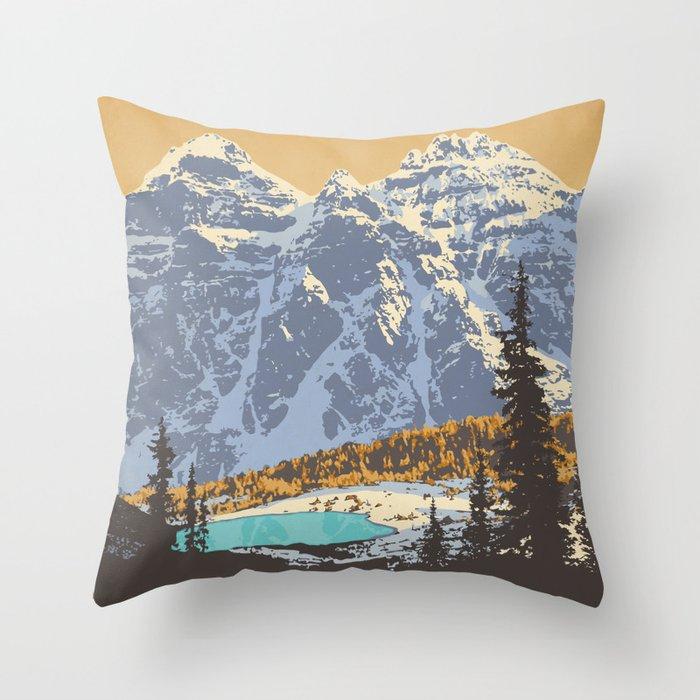 Banff National Park Throw Pillow