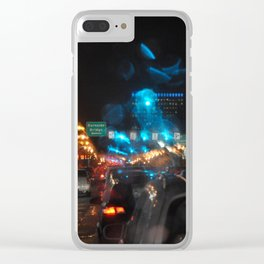 RAINY NIGHTS Clear iPhone Case