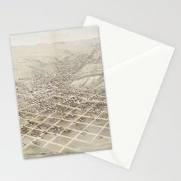 Vintage Pictorial Map of Council Bluffs (1868) Stationery Cards