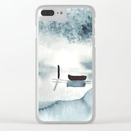 Boat on Ice Clear iPhone Case