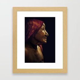 KUNA WOMAN. Panama. Framed Art Print