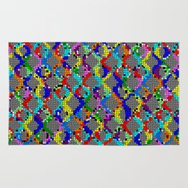 Chain Linked Stained Glass Rug