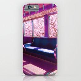 Cherry Blossom Train iPhone Case
