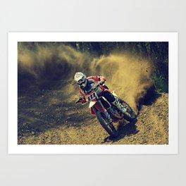 Bike Rider Art Print