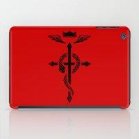 fullmetal iPad Cases featuring Fullmetal Alchemist Flamel - Black by R-evolution GFX