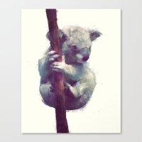 koala Canvas Prints featuring Koala by Amy Hamilton