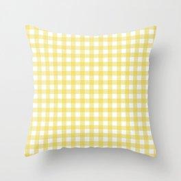 yellow gingham Throw Pillow