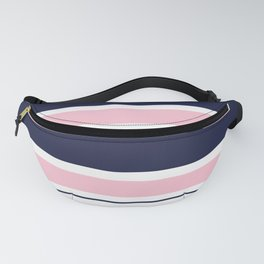 Blue Navy and Pink Stripes Fanny Pack