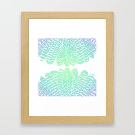 TRIBAL FEATHERS - SEAFOAM Framed Art Print