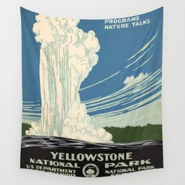 WPA vintage Travel poster - Yellowstone National Park - Ranger Naturalist Service Wall Tapestry