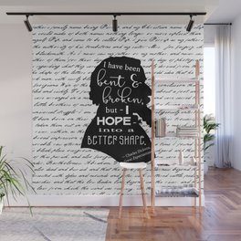 Into a Better Shape - Dickens (B&W Large) Wall Mural
