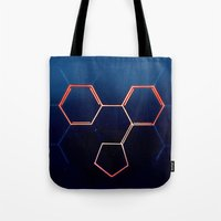 fullmetal alchemist Tote Bags featuring THE ALCHEMIST by James Alex Davies
