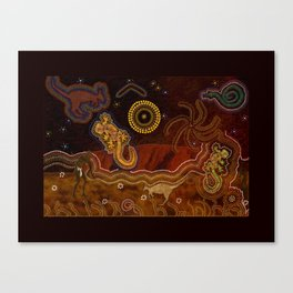 Desert Heat - Australian Aboriginal Art Theme Canvas Print