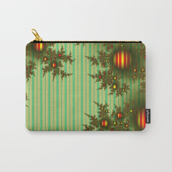 Vintage Christmas fractal Carry-All Pouch