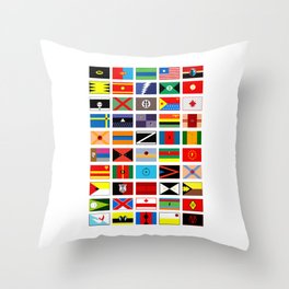 SH as flags Throw Pillow