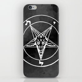 Satanic Pentagram - Black Watercolor iPhone Skin