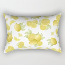 Summer Lemon Twist #1 #tropical #fruit #decor #art #society6 Rectangular Pillow