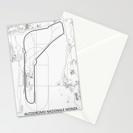 Autodromo Nazionale Monza Circuit Map Stationery Cards