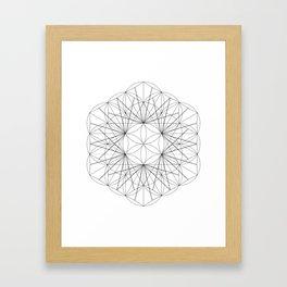 Seed cube rewrite Framed Art Print