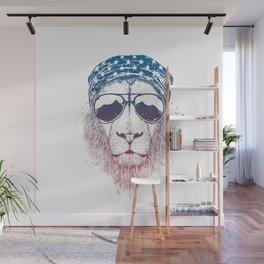 Wild lion Wall Mural