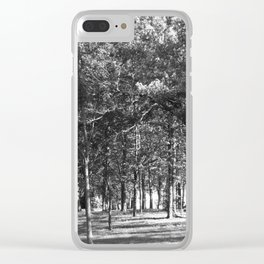 Black-and-White Woods Clear iPhone Case
