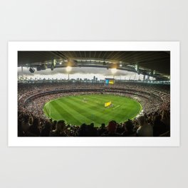 Let the Games Begin at the MCG Art Print