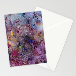 Mosaic of Owls Stationery Cards