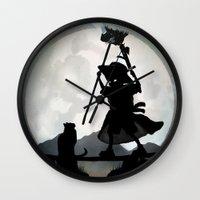 gandalf Wall Clocks featuring Gandalf Kid by Andy Fairhurst Art
