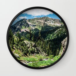 No Trails to the Top // Incredible Hiking Views Blissful Beauty Peaceful Landscape Photography Wall Clock