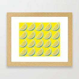 BLUE LEMON Framed Art Print