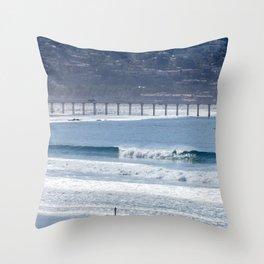 Aqua Playground Throw Pillow