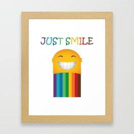 Just Smile Rainbow-Liked Design Framed Art Print
