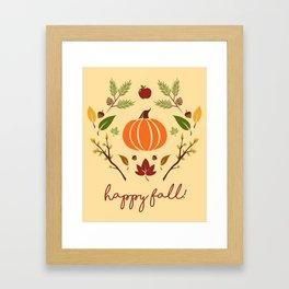 Happy Fall Framed Art Print